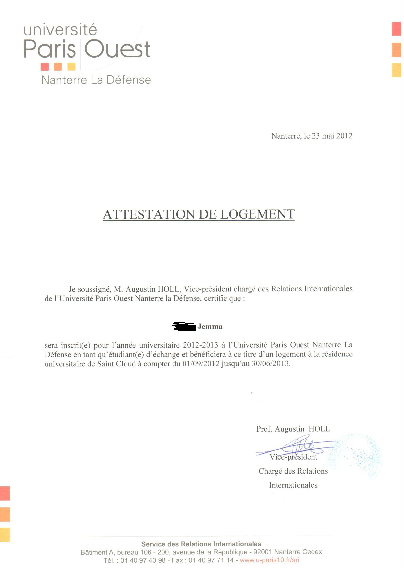 jemesque life la vie est belle oh and yes that second letter is indeed a confirmation of my accommodation at the reacutesidence saint cloud this was probably the biggest relief contained in